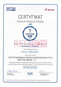Certyfikat 1 CELCO AIR Arkadiusz Tobiasz