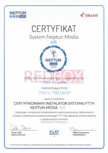 Certyfikat 1 CELCO AIR Hubert Czeleko